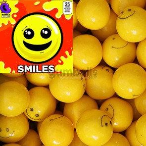 Smiles Yellow Gumballs- 15 lbs