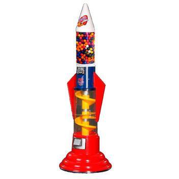 Rocket Spiral Gumball Machine