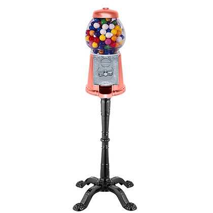 """Gloss Coral Isle 15"""" Tall Gumball Machine with Stand"""