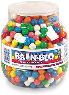 Rain-blo Bubble Gum Balls, 53 Ounce Jar  by RainBlo