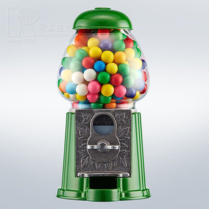 "FOREST Green 15"" Classic Gumball Machine with Stand and Gumballs"