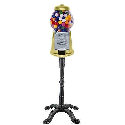"""Satin-Meringue 15"""" Tall Gumball Machine with Stand with 1 lb. of Gumballs"""
