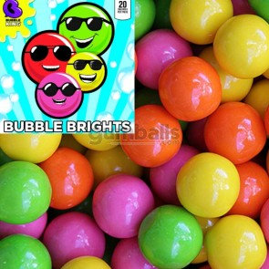"Bubble Brights Neon Gumballs (1""/850count)"