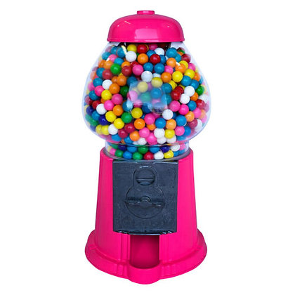 "HOT PINK 15"" Classic Gumball Machine with Stand and Gumballs"