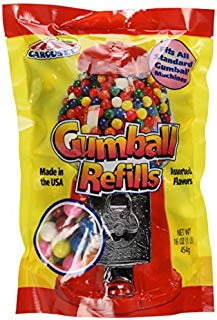 Assorted Gumballs Refill ~ 16 oz  by Ford Gum