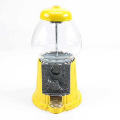 "SUNSHINE Yellow 15"" Classic Gumball Machine with Stand and Gumballs"