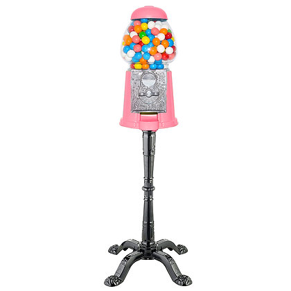 """Gloss Watermelon 15"""" Tall Gumball Machine with Stand & 1 lb. of Gumballs"""