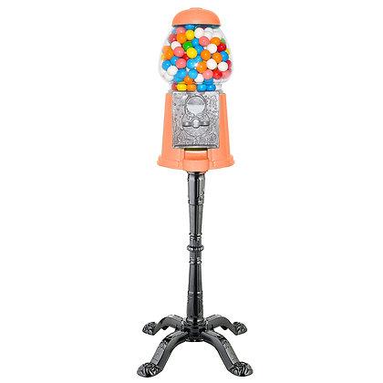 "Pumpkin Orange 15"" Tall Gumball Machine with Stand"