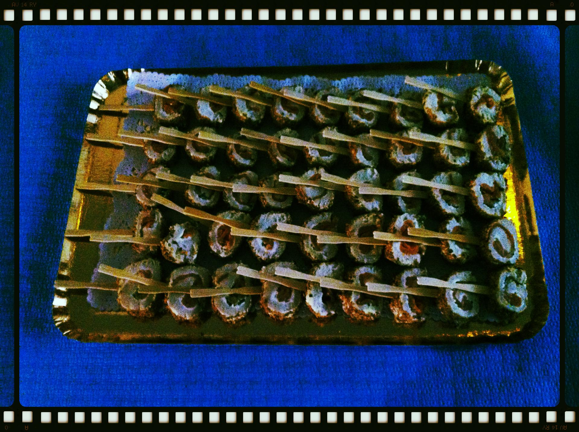 Sucettes de roulé de saumon fumé