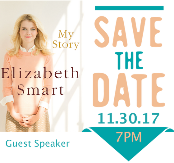 Elizabeth Smart at Our Forgiveness Event at North Point on Nov 30th