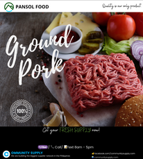 Ground Pork and Pork Loin