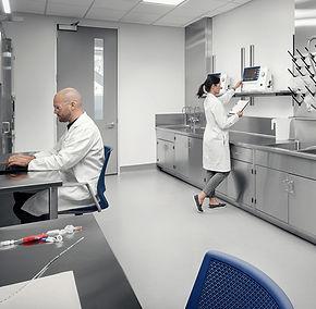 bancada para laboratório inox