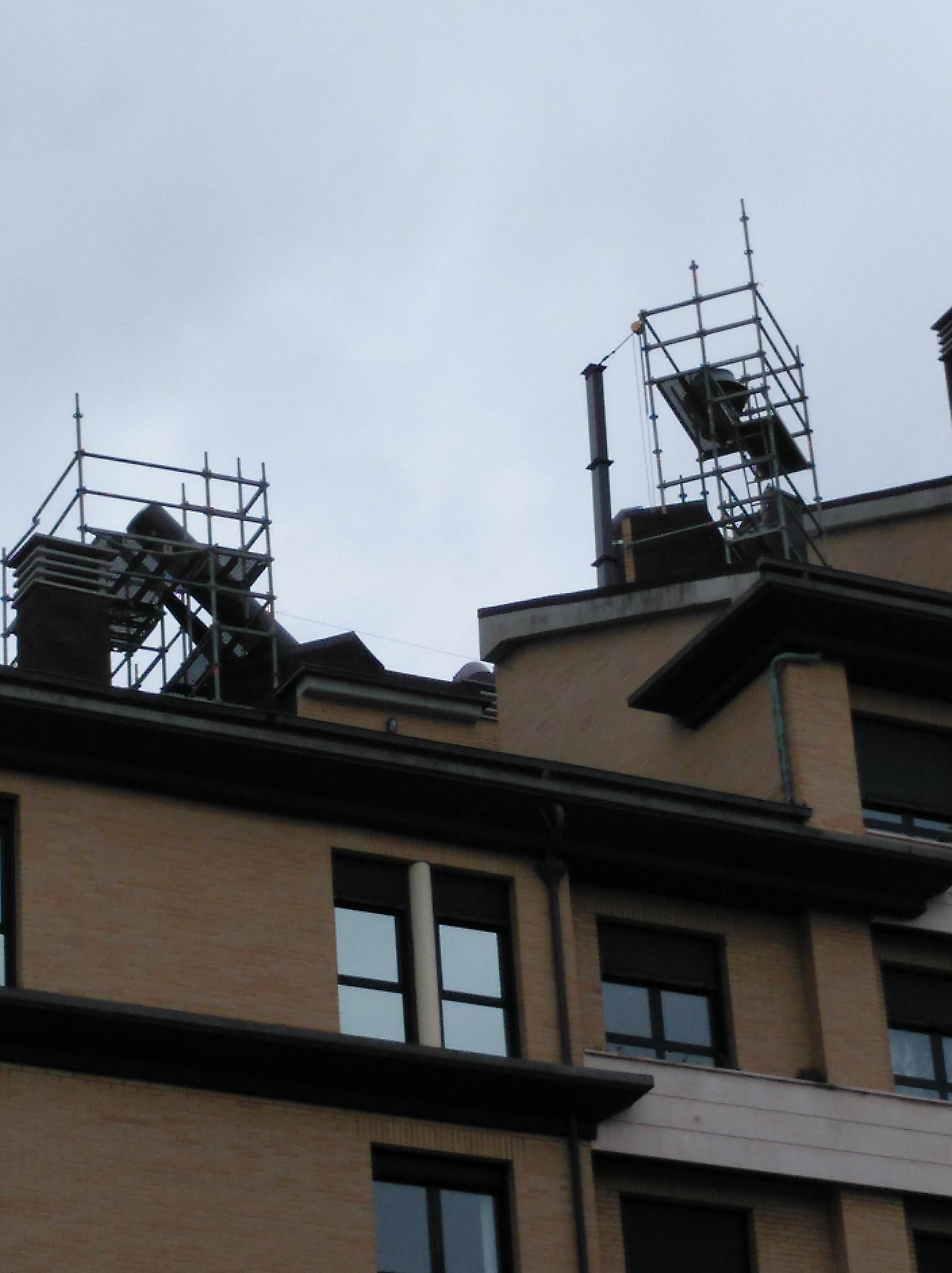 Estructuras de soporte y chimeneas