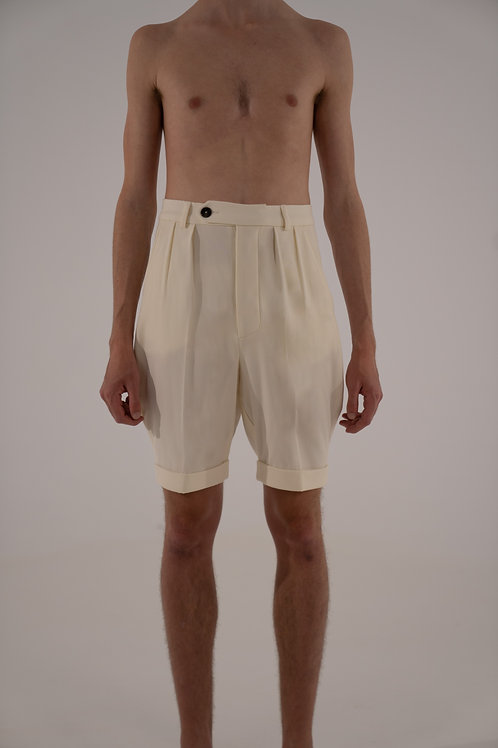 THE SHORT WOOL TROUSERS