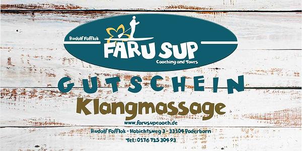 SUP Gutschein FARUSUPCOACH Klangmassage.