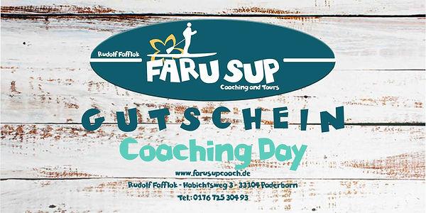 SUP Gutschein FARUSUPCOACH Coaching Day.