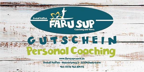 SUP Gutschein FARUSUPCOACH Personal Coac