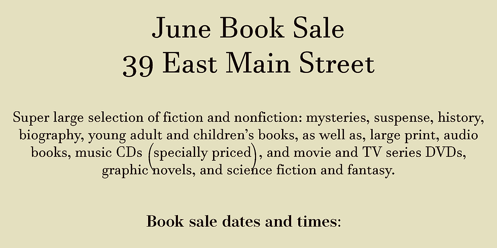 June 2021 Book Sale