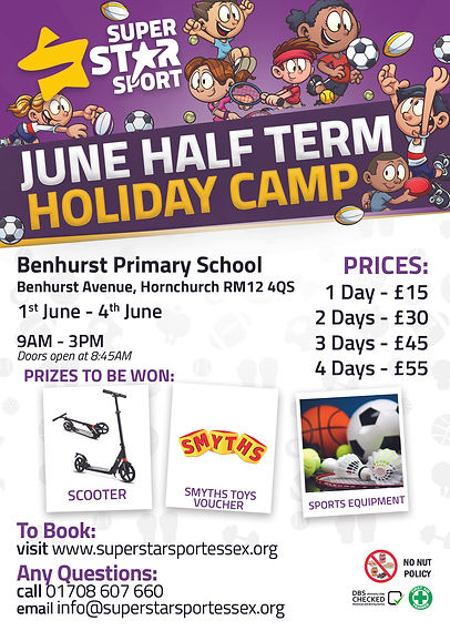 June Half Term Camp Flyer 2021 - Benhurs