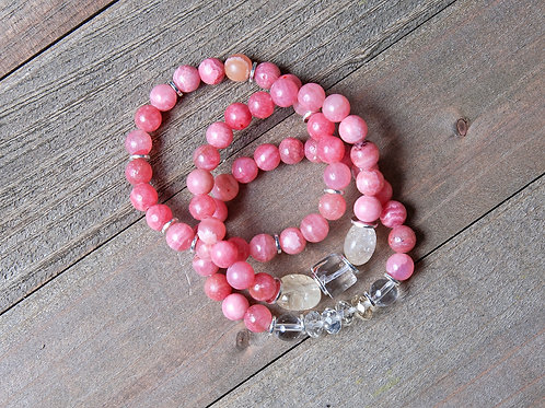 Healing, Harmony, Happiness Bracelet Stack