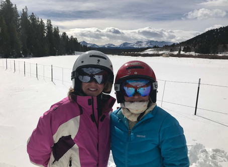 Exploring Copper Mountain, Colorado from a Snowmobile