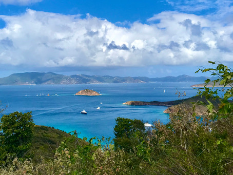 Hiking on Norman Island, British Virgin Islands