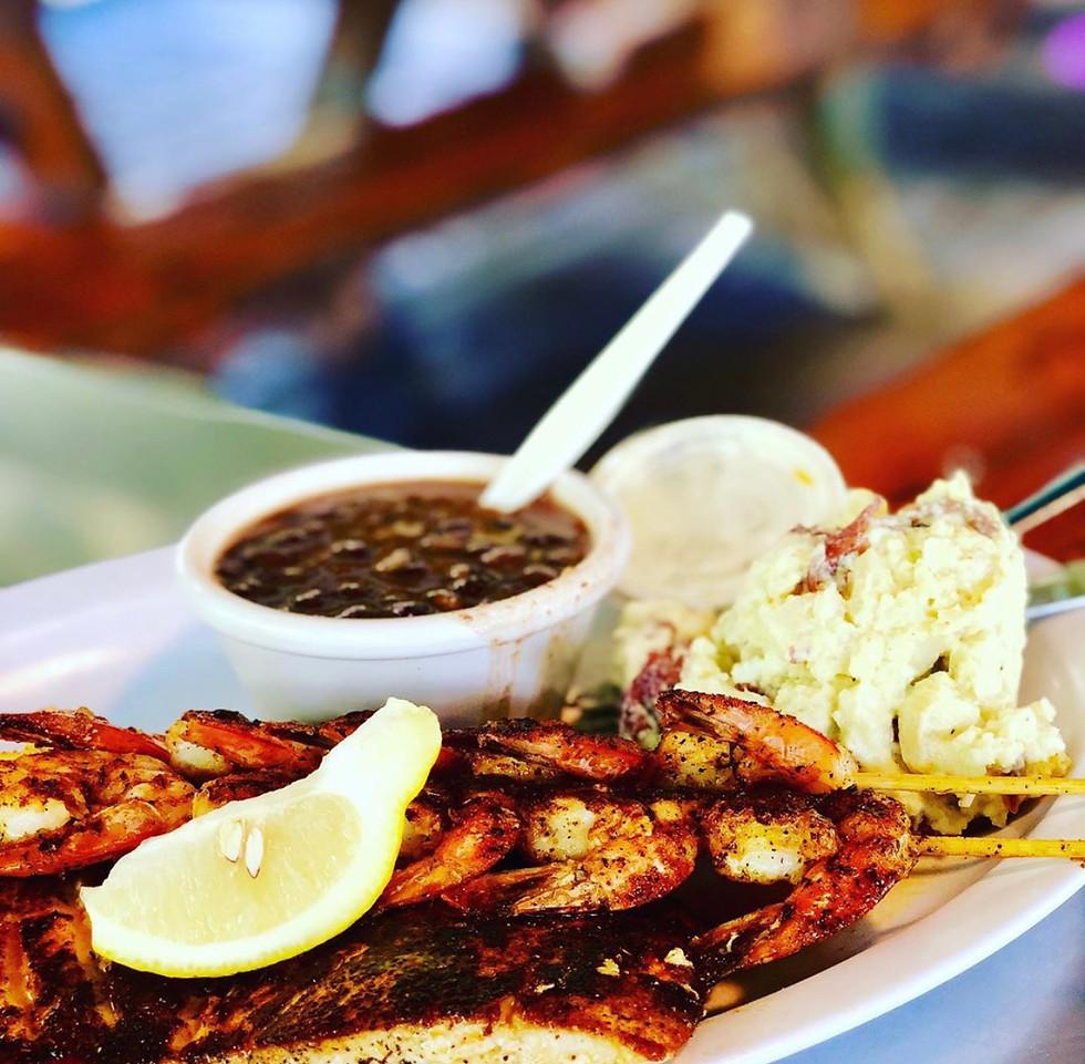 Grilled Grouper and Shrimp