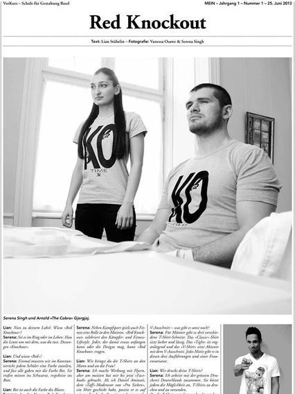 (Switzerland) Zeit Geist Magazin Interview with Serena Singh