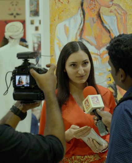 (Dubai) Gulf Panorama TV Interview at World Art Dubai