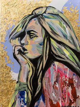 """(Sold) """"Woman in thoughts"""""""