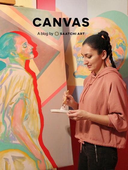 (England) Canvas by Saatchi Art Interview: Inside the Studio: Serena Singh