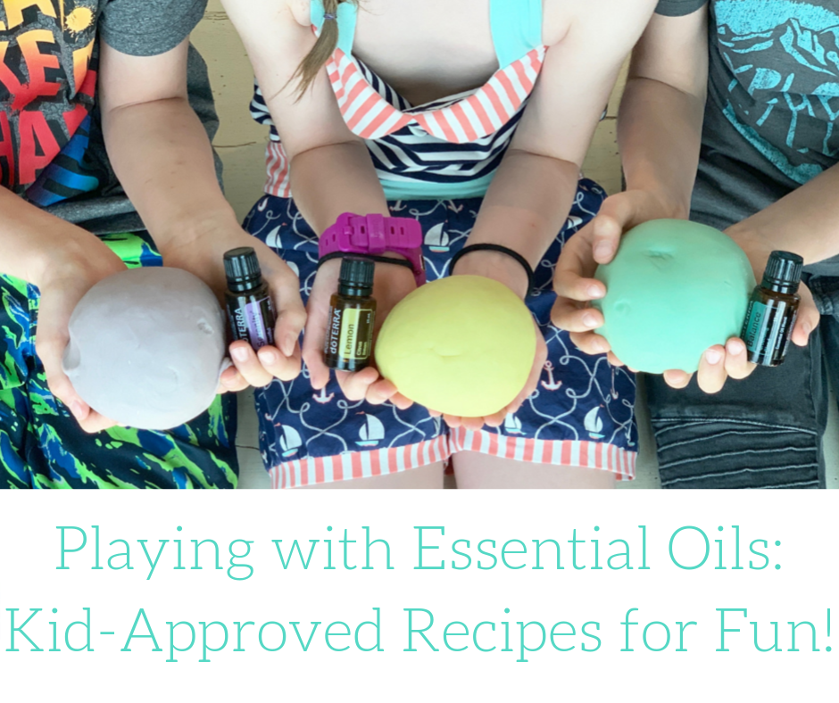 playing with essential oils