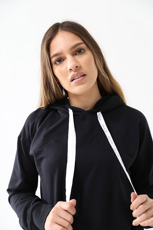 Women's Embroidered Hoodie (Black)