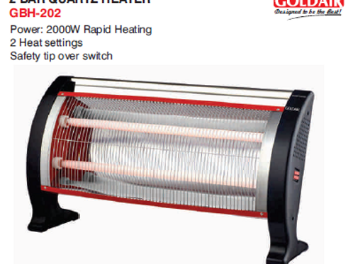 2 BAR QUARTZ HEATER GBH-202