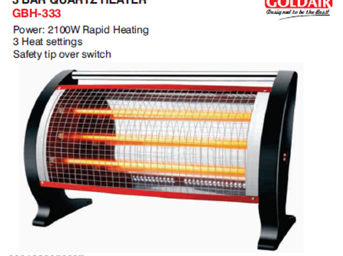 3 BAR QUARTZ HEATER GBH-333