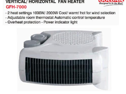 VERTICAL/HORIZONTAL FAN HEATER GFH-7000