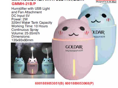 MINI HUMIDIFIER WITH USB FAN/LIGHT GMMH-21B/P