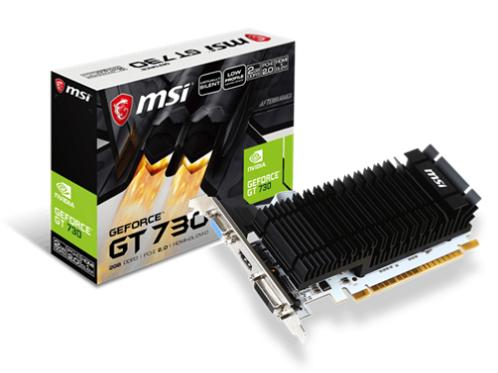MSI GeForce GT 730 2GB DDR3 Graphics Card