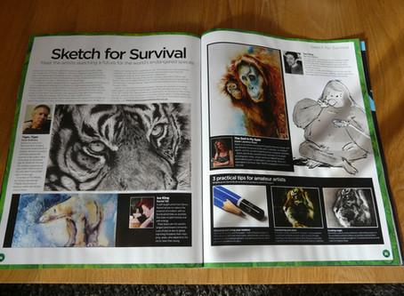 My Work published in 'World of Animals, magazine