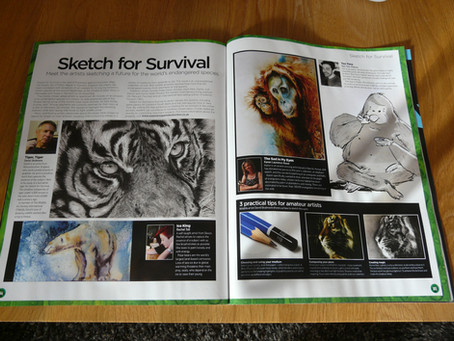 My Work published in 'World of Animals, magazine