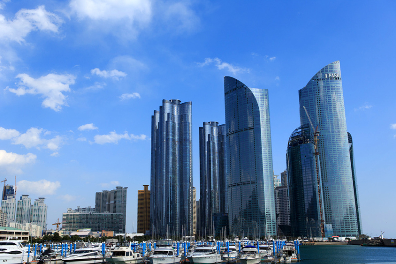 Marine City in Busan