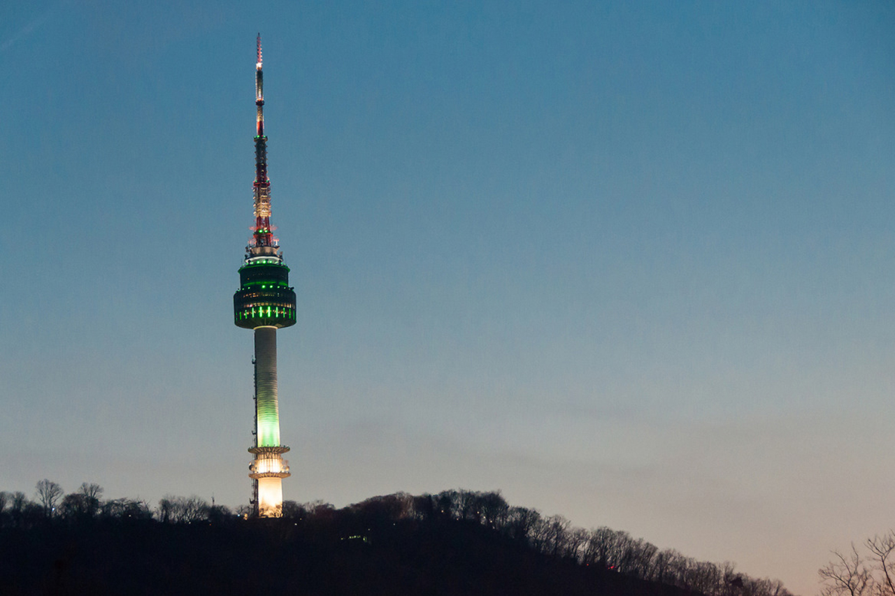 N Seoul Tower Night View