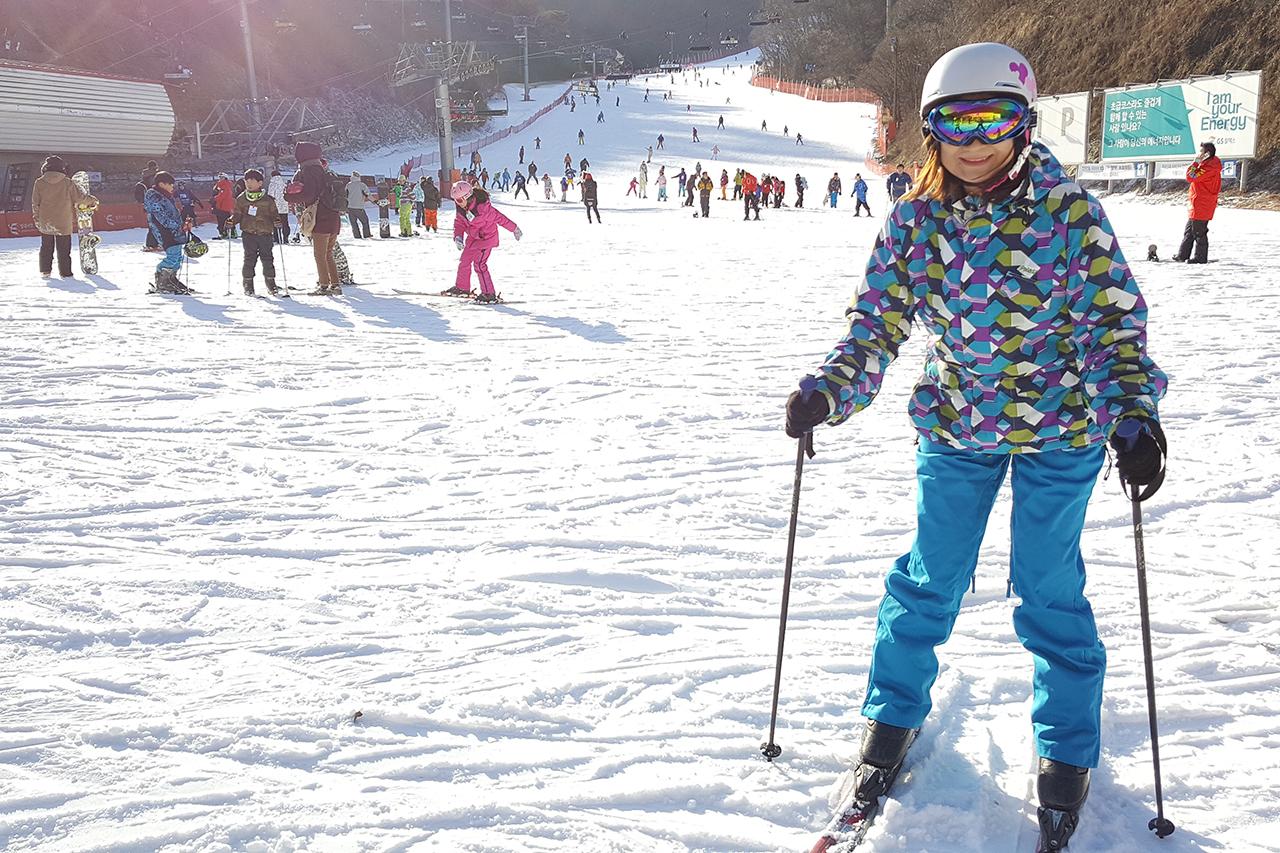 Skiing at the Gnagchon Elysian