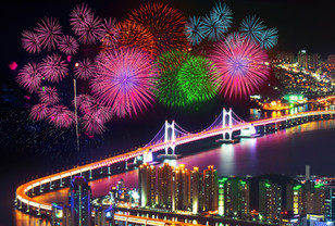 Firework festival at GwangAn Bridge in B