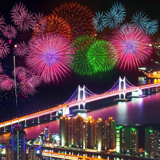Firework festival at GwangAn Bridge in B