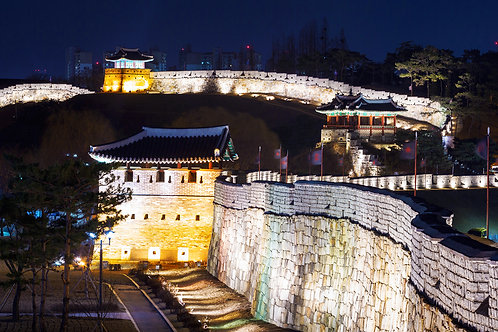 Heritage tour: Suwon Hwaseong Fortress & Korean Folk Village with marinated pork