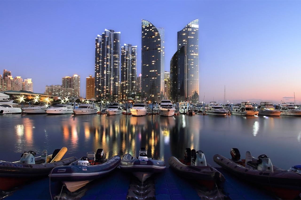 Night vie of Marine City in Busan