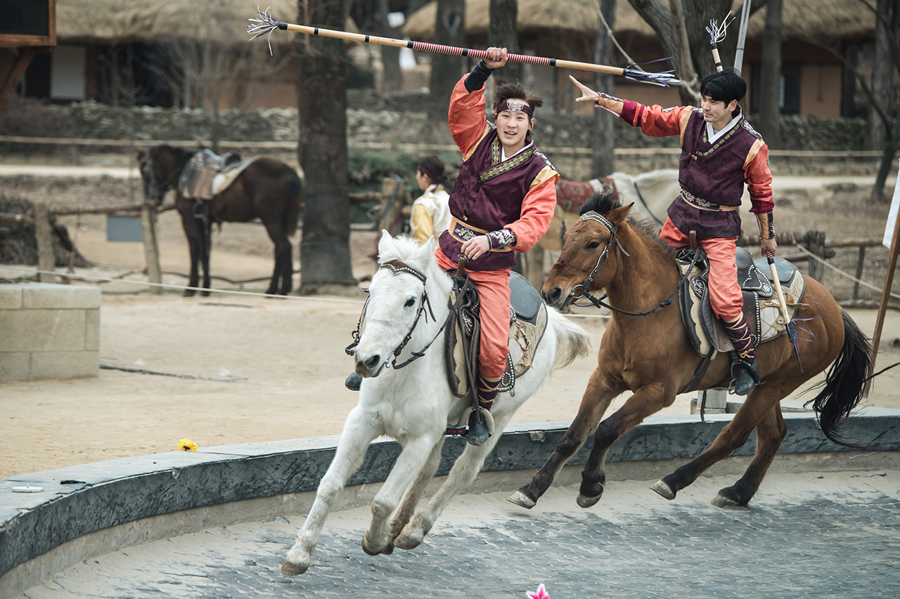 Korean Folk Village Horse performance