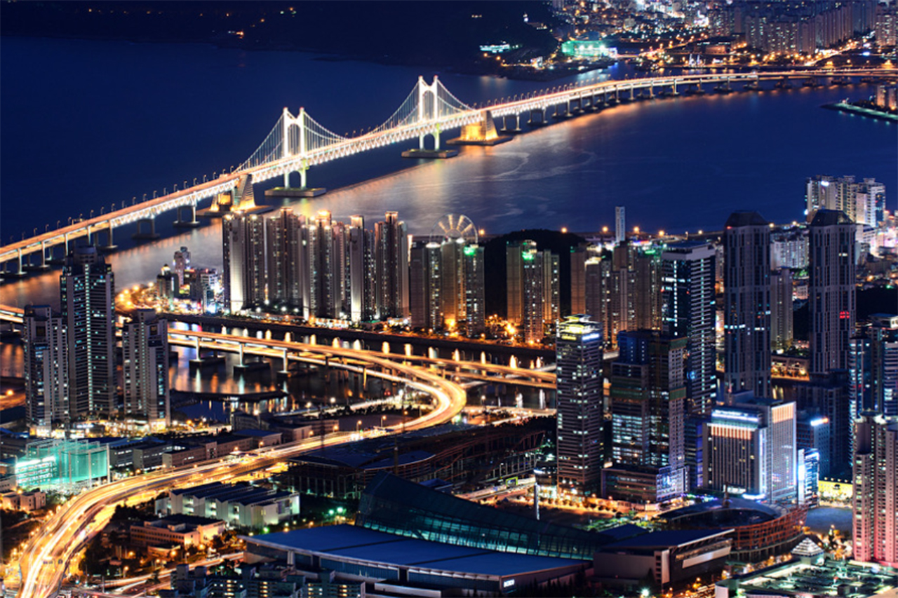 Night view of H Busan