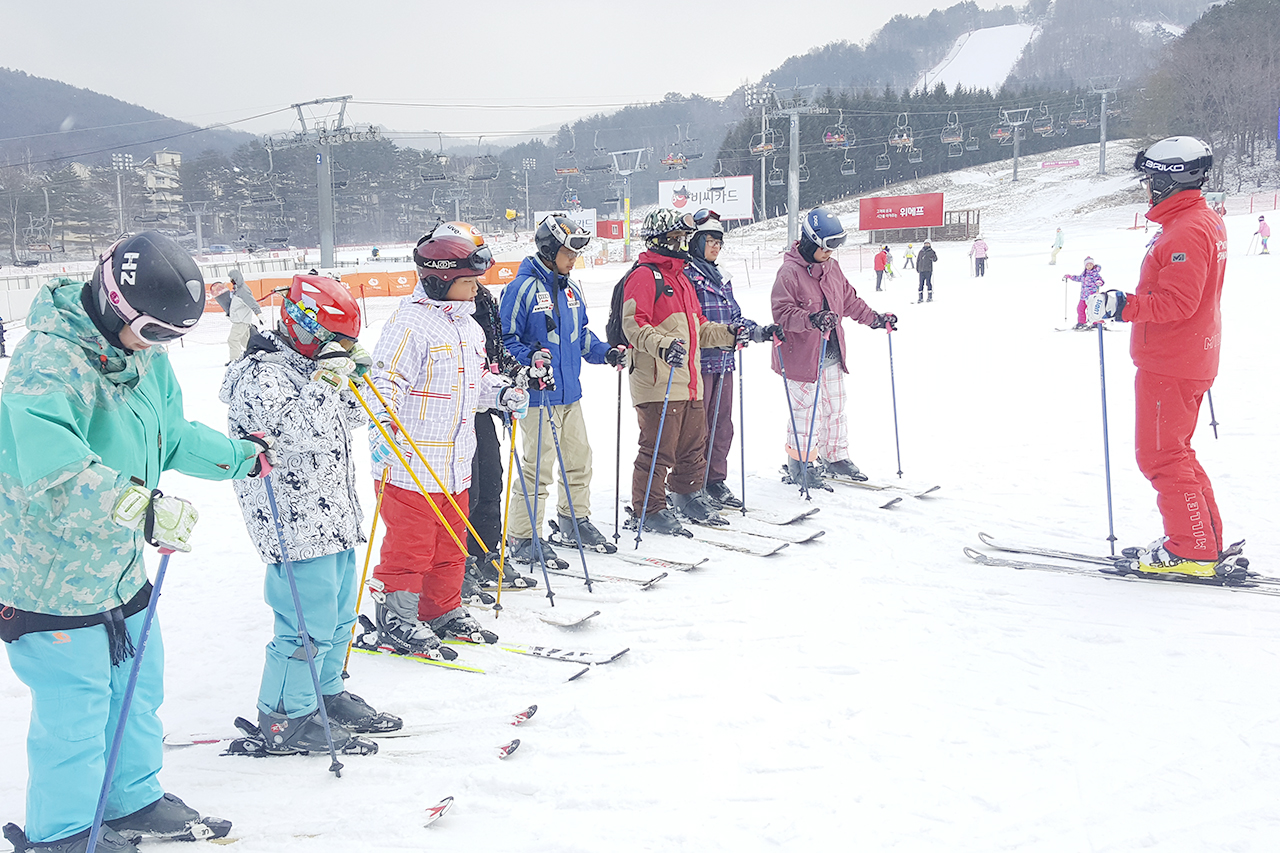 yongpyeong ski resort tour ski lesson